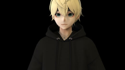 Anime Boy Low Poly Character 20