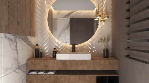 Toilet cabinet set
