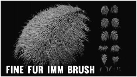 Fine Fur IMM for ZBrush