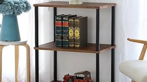 prefabricated display case type 3-tier shelf range stand
