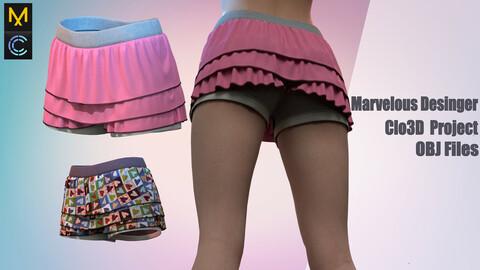 Shorts for girls / Marvelous Desinger/Clo3D Project+OBJ File
