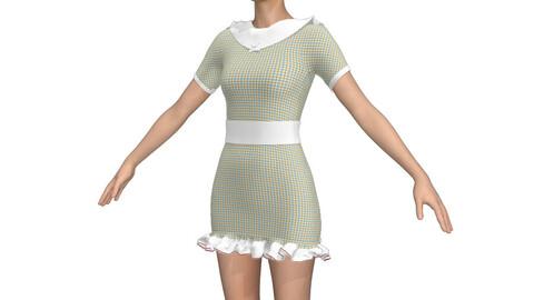 cute textured mini dress