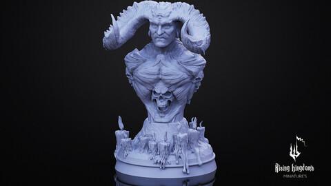 IX MORTIAC Bust. (STL FILE for 3D printing)