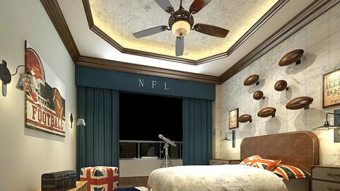 Stylish bedroom complete 216