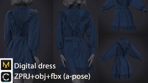 Digital dress | clo3d | marvelous designer