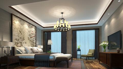 Stylish bedroom complete02