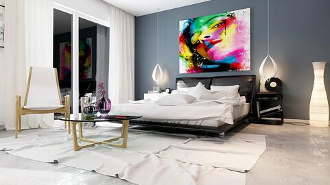 Stylish master bedroom design  02
