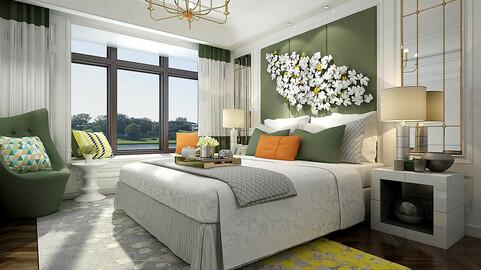 Stylish master bedroom design  04