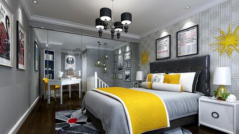 Stylish master bedroom design  09