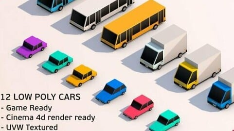 Low Poly City Cars Pack
