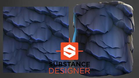 Stylized Rock Wall - Substance Designer