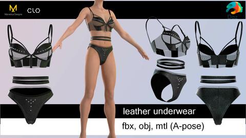 Leather underwear.  Marvelous Designer