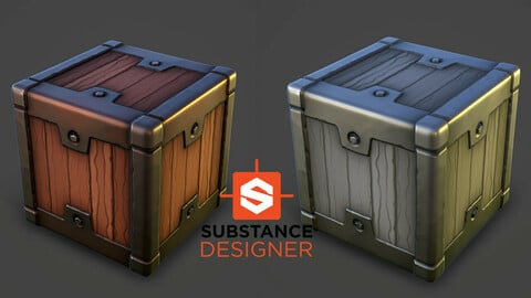 Stylized Wood and Metal - Substance Designer