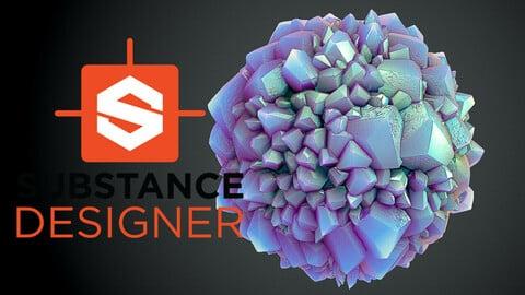 Stylized Crystals - Substance Designer