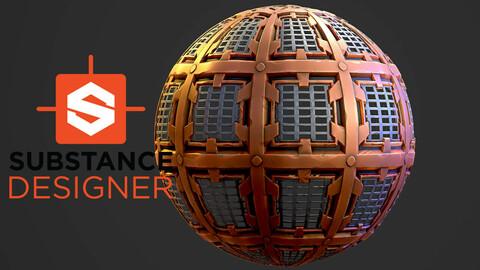 Stylized Grate - Substance Designer