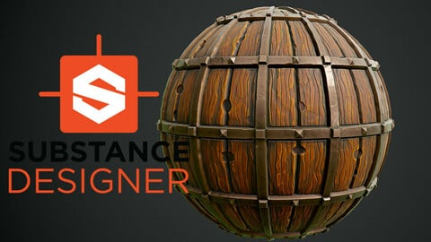 Stylized Wood with Metal - Substance Designer