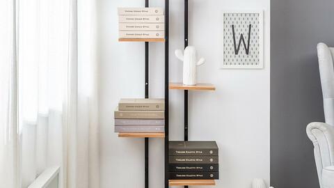 Mink shelf book shelf interior storage design bookshelf