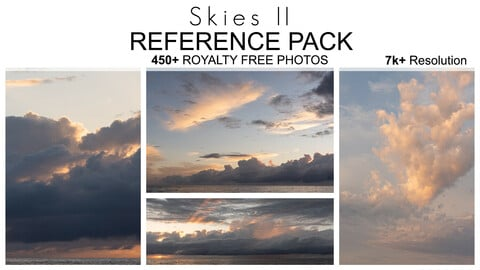 Reference Pack - Skies II - 450+ Royalty Free Photos