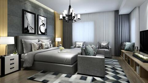 Stylish master bedroom design  41