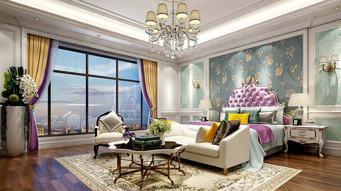 Stylish master bedroom design  47