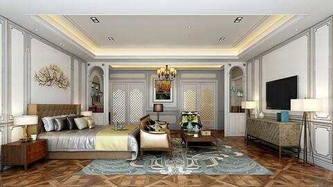 Stylish master bedroom design  51