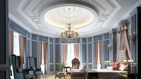 Stylish master bedroom design  55