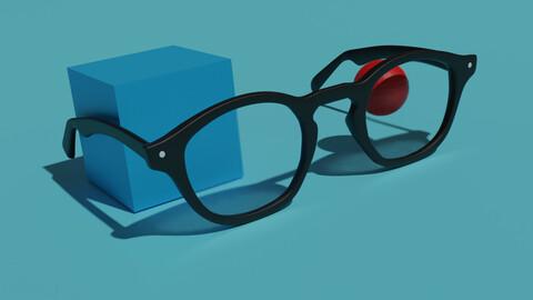Glasses Low-poly 3D model