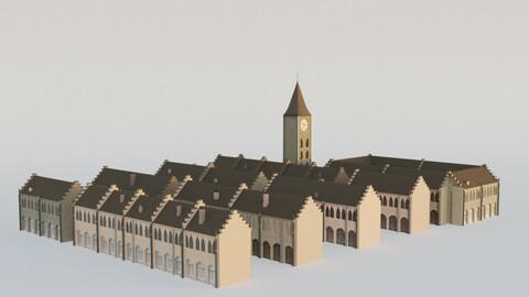 Blender European Buildings Kit