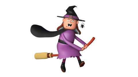 Witch witch Witch woman cartoon woman Aunt granny Halloween