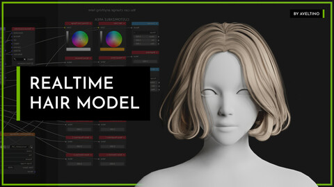 Realtime Hair Model - Hairstyle 004