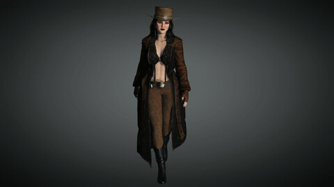 Steampunk Female Character 01