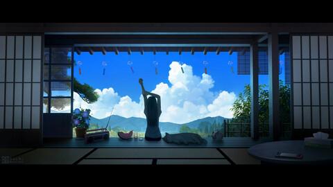 Anime girls arts for 2D game novellas