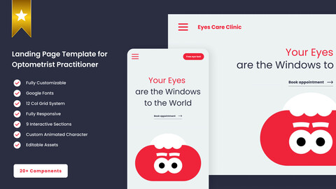 Landing Page Template for Optometrist Practitioner