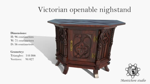Victorian openable nighstand