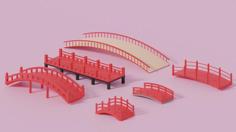 Cartoon Asian Japanese Bridge Collection