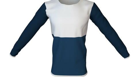 Long Sleeve Men's T-Shirt 3D Model