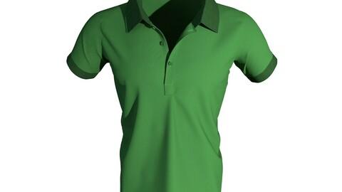 Polo Neck Men's 3D T-Shirt