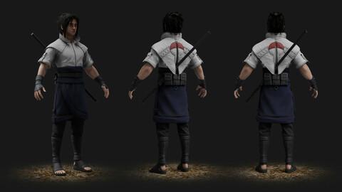 Sasuke 3d model + textures + SourceFiles