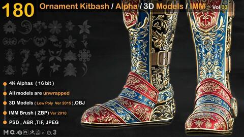 180 Ornament Kitbash / Alpha / 3D Models / IMM vol 03