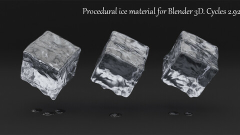Procedural Ice Material For Blender 3d. Cycles 2.92-93