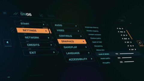 FUI / UI - Sci-fi Game UI Menu Template