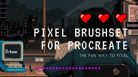 Pixel brushset for procreate