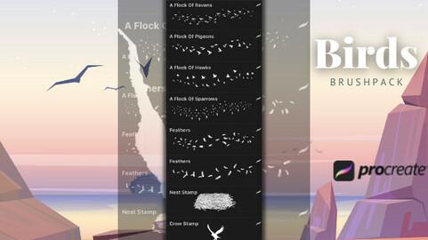 Birds Brushpack for Procreate