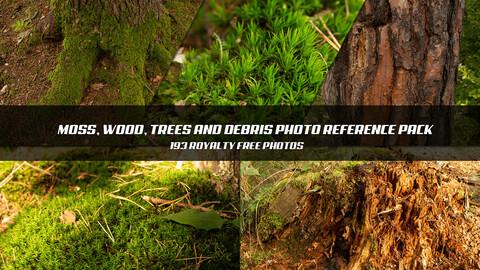 Moss, Wood, Trees, Debris Photopack - FREE
