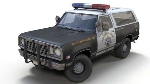 Offroad police car
