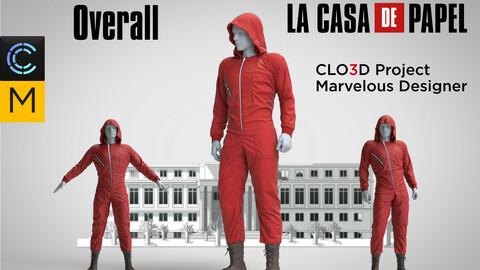 Red overall La Casa De Papel