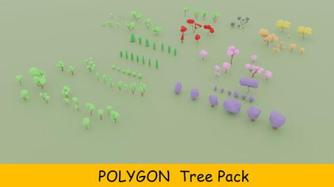Stylized Tree Pack (80 pcs)