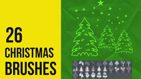 Christmas Brushes for Photoshop