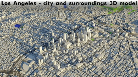 Los Angeles - city and surroundings 3D model