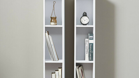 Easy assembly DIY slim 3-tier bookcase crevice storage